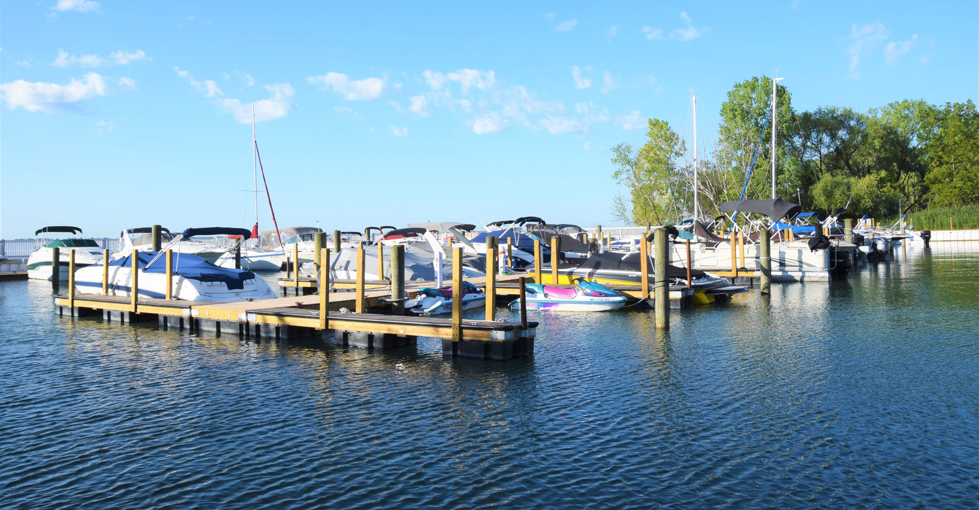 Secure marina with wet wells, dry wells and trailer storage