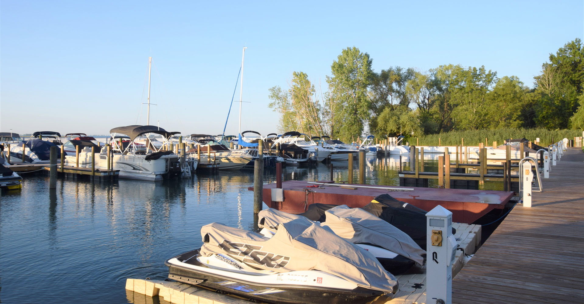 Jet-ski and boat docks available